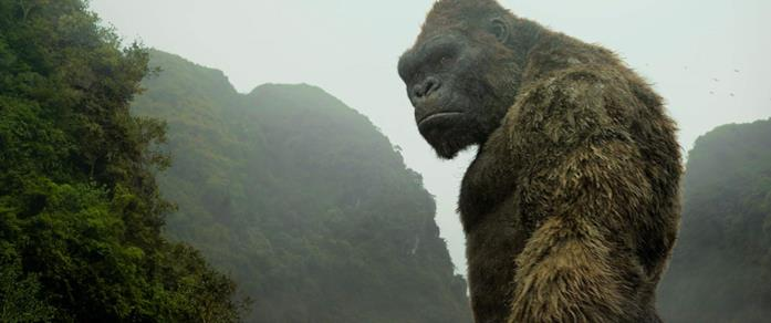 King Kong in una scena del film Kong: Skull Island