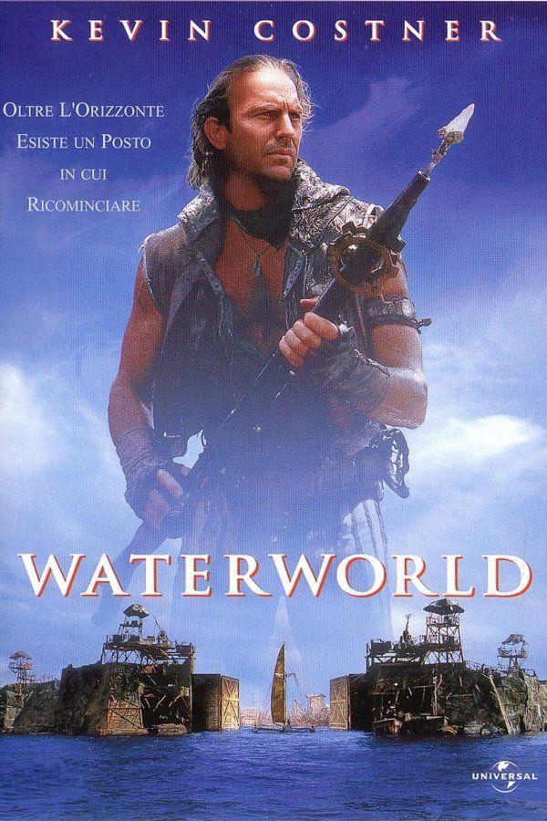La locandina di Waterworld, film con Kevin Costner