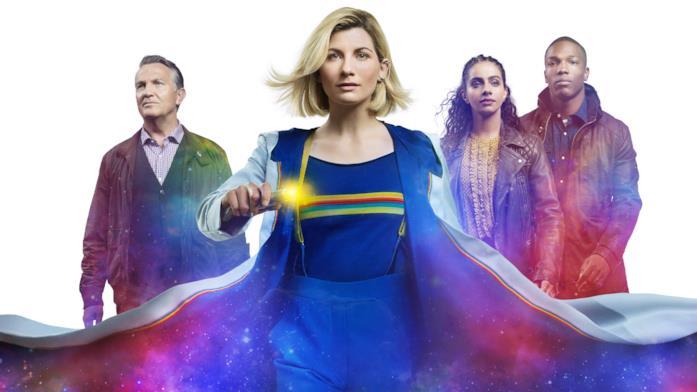 Un'immagine promozionale con i protagonisti di Doctor Who 12