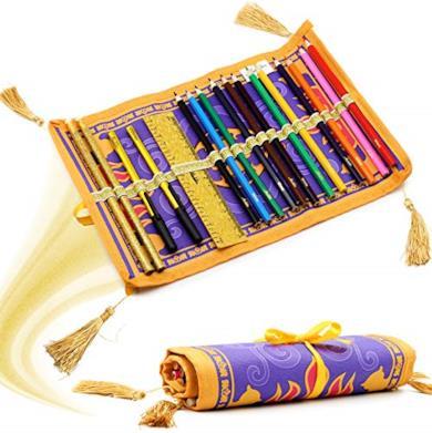 Aladdin Astuccio Roll Up Portapenne 17 Pezzi Set Matite Colorate Assortite
