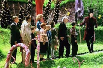 Il cast de La fabbrica di cioccolato (2005)