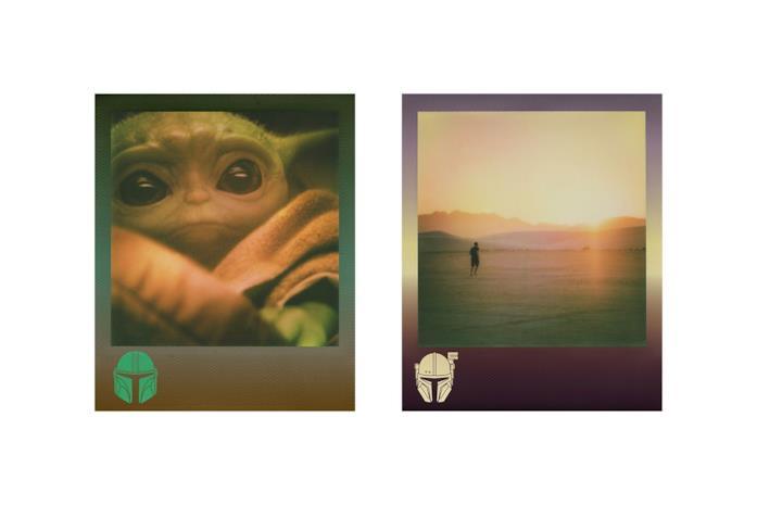 Un'immagine delle pellicole Polaroid di The Mandalorian