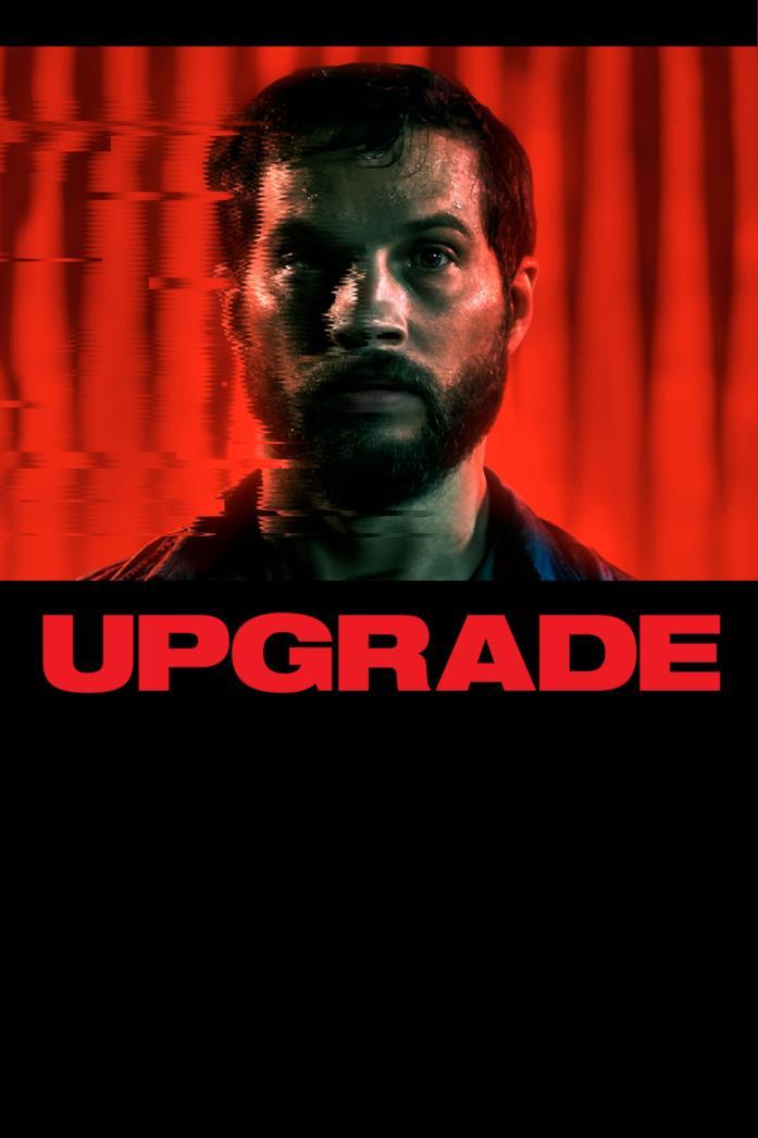 Primo piano di Logan Marshall-Green nel poster di Upgrade
