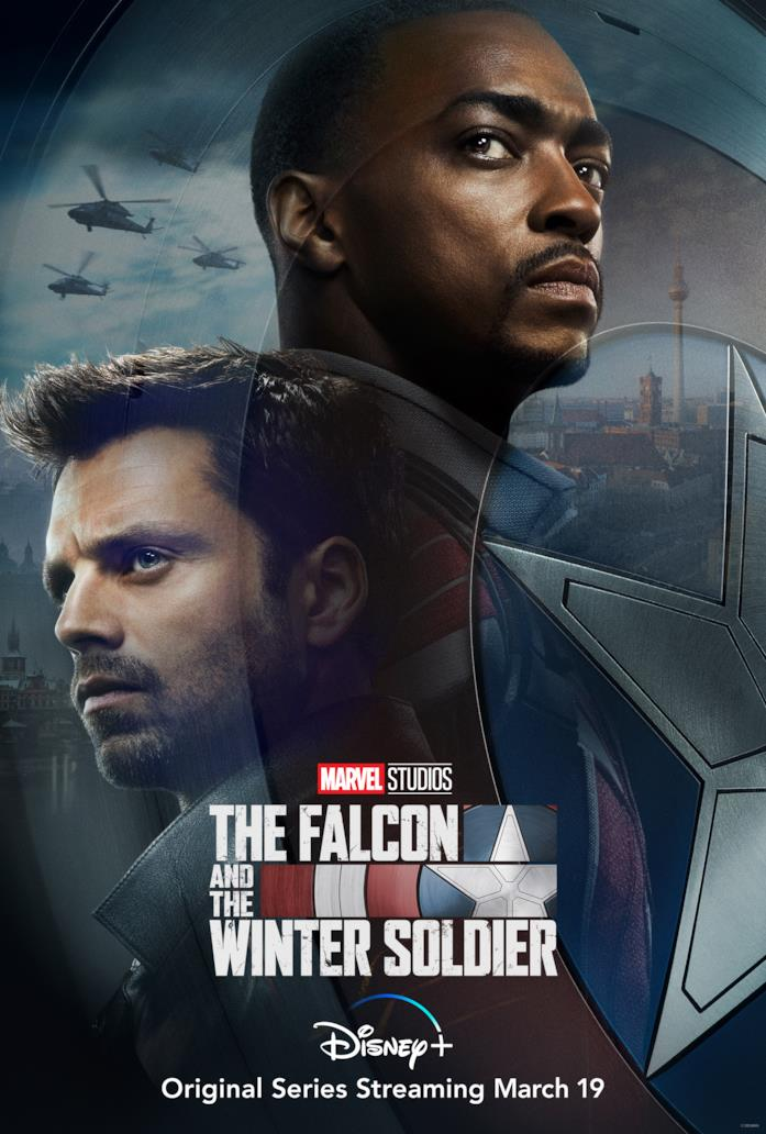 Falcon e il Soldato d'Inverno nella locandina della loro serie