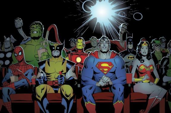 Gli eroi Marvel e DC al cinema insieme
