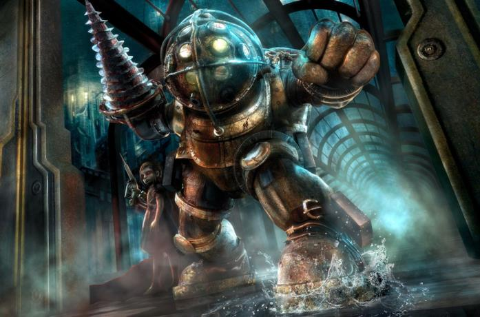 Big Daddy e Sorelline di BioShock