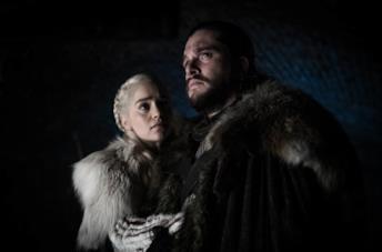 Jon e Daenerys nel finale di Game of Thrones