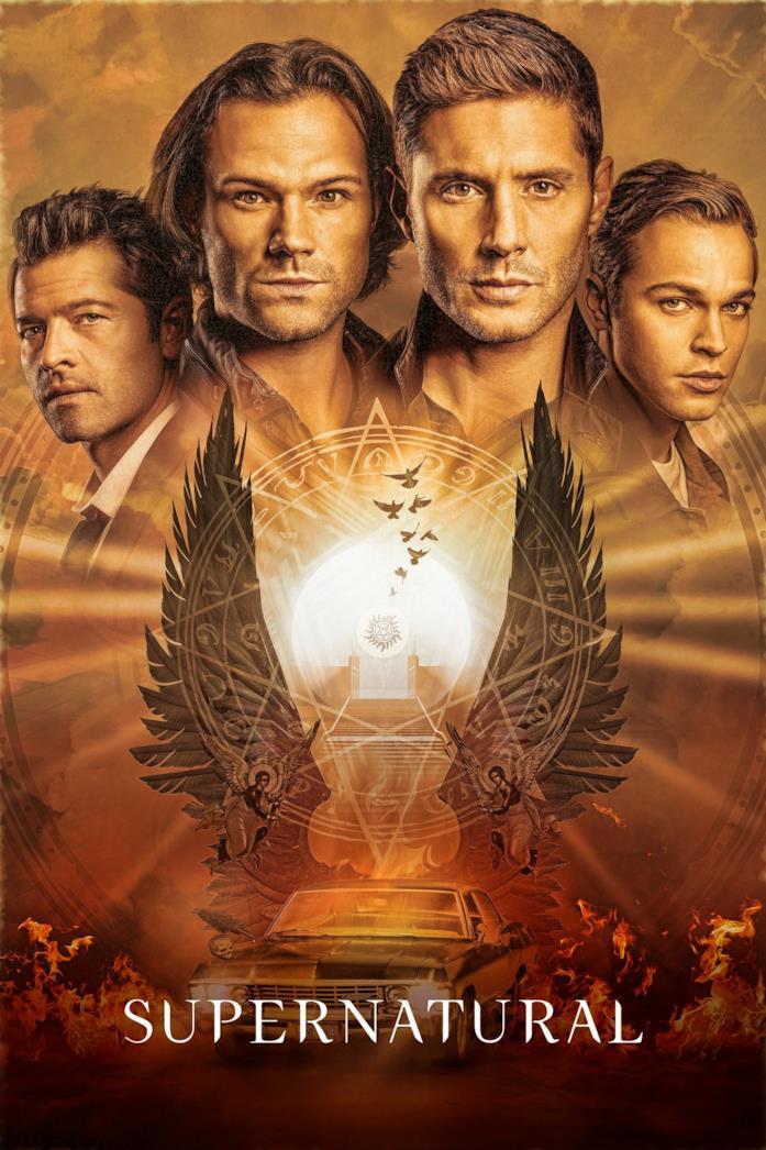 Il cast nella locandina di Supernatural