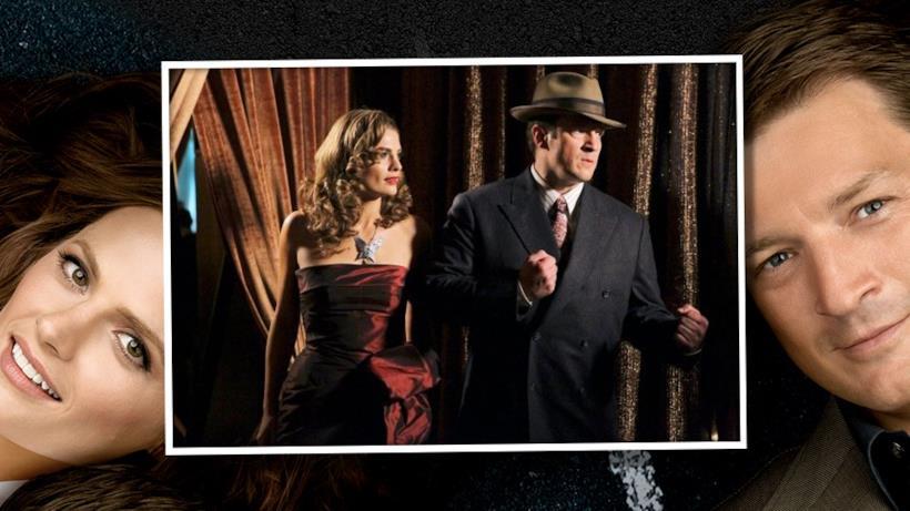 11) Castle e Beckett in versione noir.