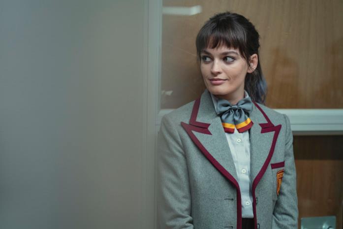 Emma Mackey in una scena di Sex Education 3