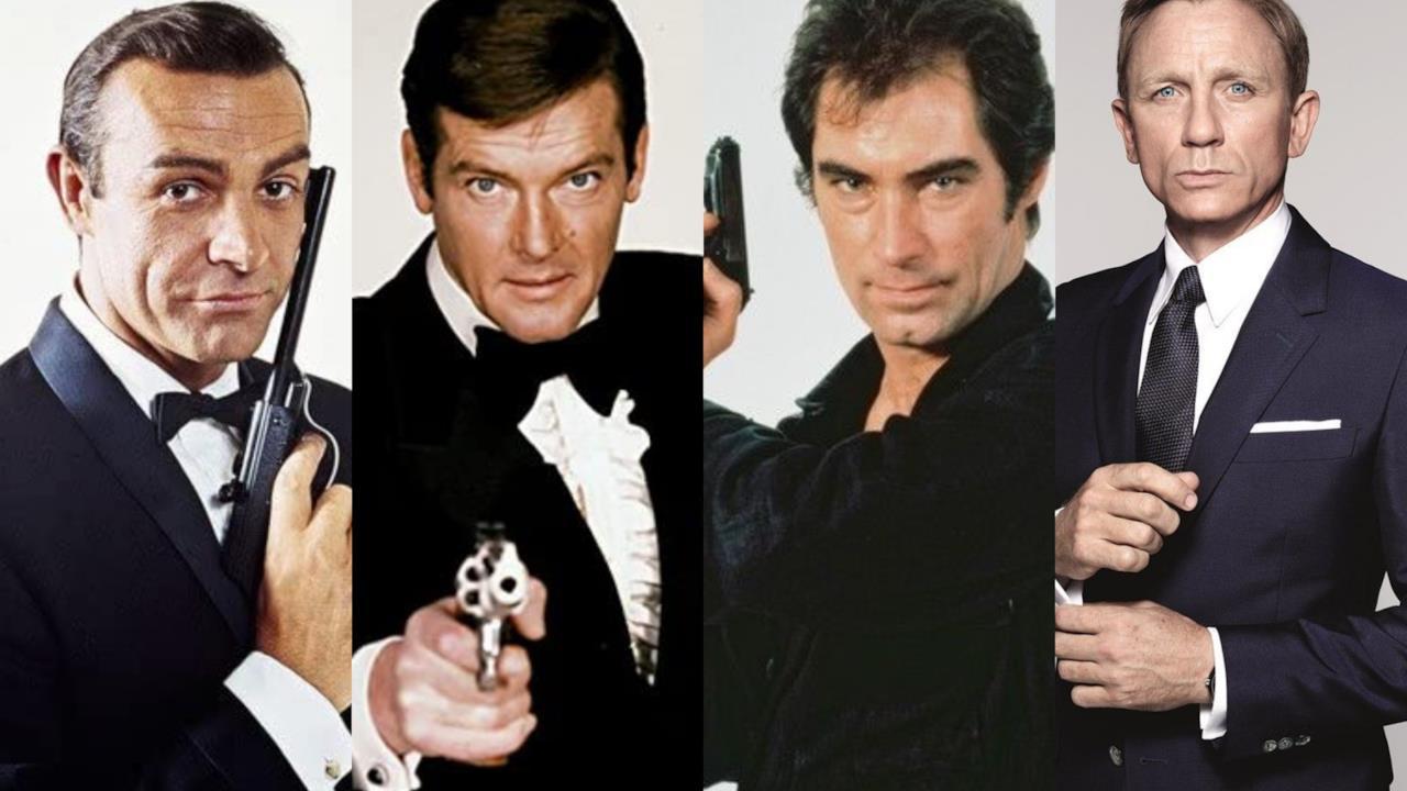 Tutti gli attori che hanno interpretato James Bond, da Sean Connery a Daniel Craig