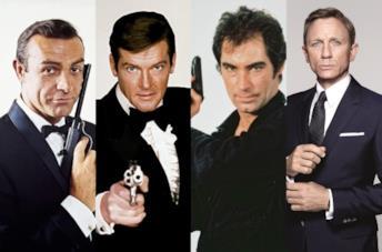 Quattro interpreti di 007