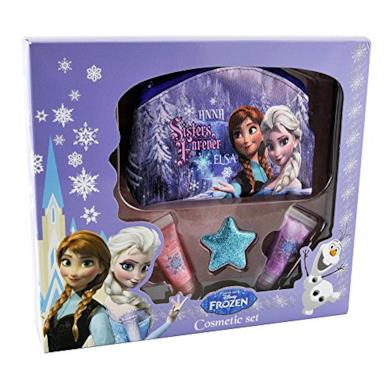 Disney, Set da regalo di Frozen con trucchi da viaggio e bustina