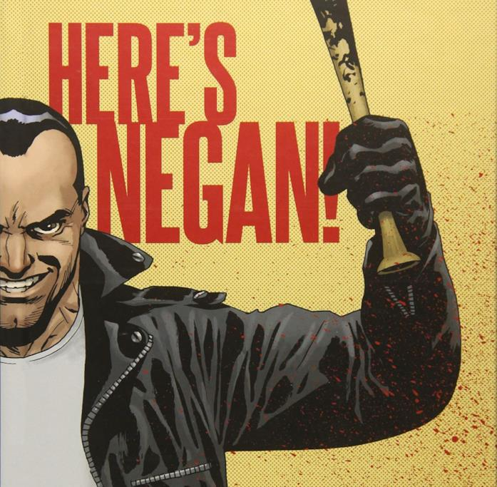 La storia a fumetti di Negan in Here's Negan!