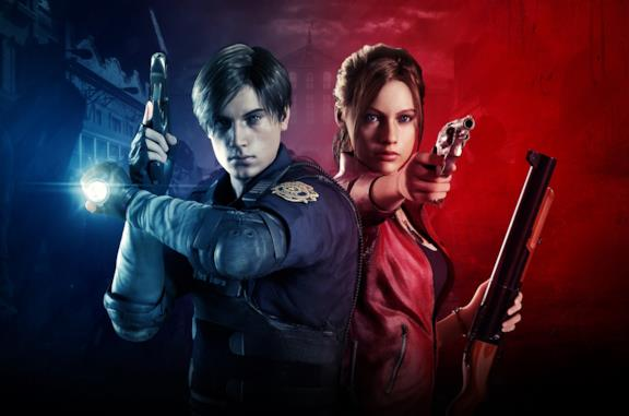 Leon Kennedy e Claire Redfield in Resident Evil 2 Remake