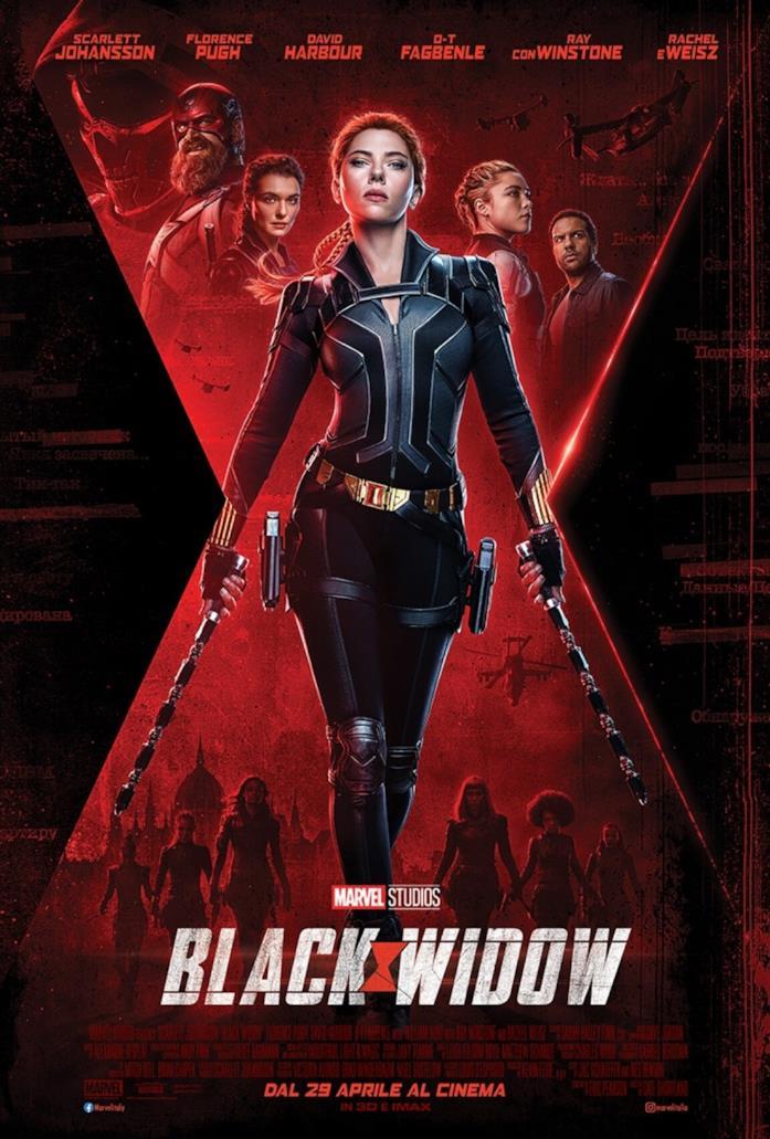Il poster promozionale di Black Widow