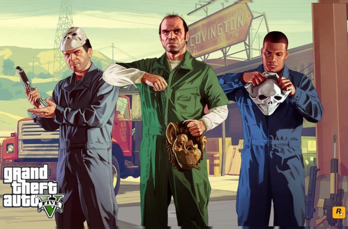 Michael, Trevor e Franklin si preparano per una rapina