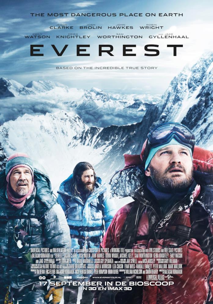 Il poster del film Everest