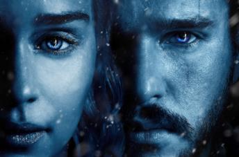 Daenerys e Jon in Game of Thrones