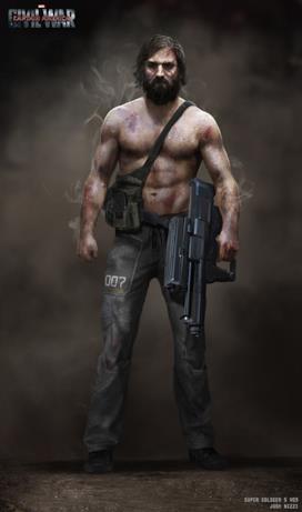 Barba e ferite in tutto il corpo per la versione alternativa del Super Soldato numero 5