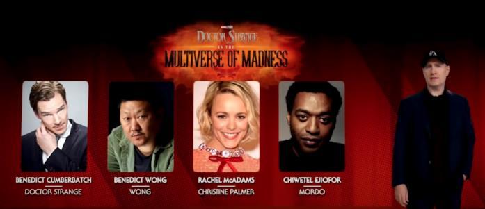 Il cast di Doctor Strange 2