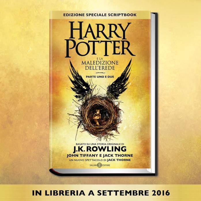 La copertina di Harry Potter e la Maledizione dell'Erede