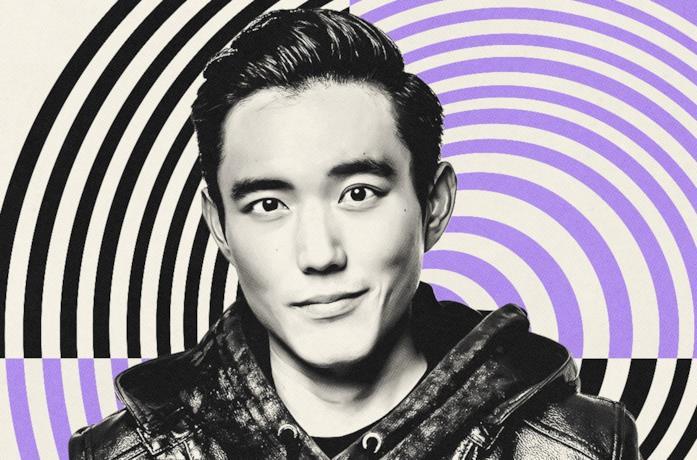 Justin H. Min in un poster promozionale per The Umbrella Academy