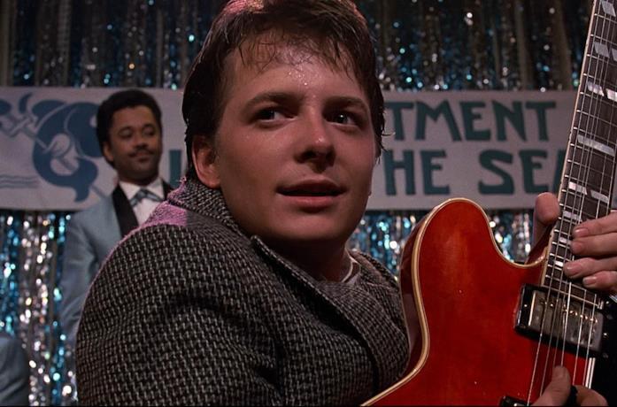 Un'immagine di Marty McFly in Ritorno al Futuro