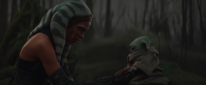 L'incontro della Jedi Ahsoka con il Bambino, Grogu