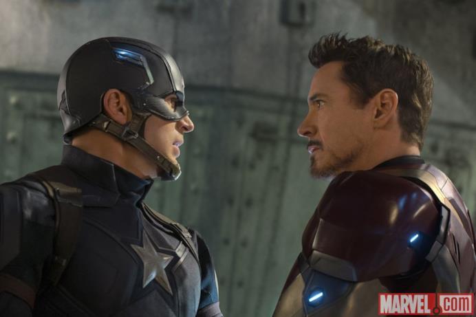 Stand-off con Iron Man in Capitan America: Civil War