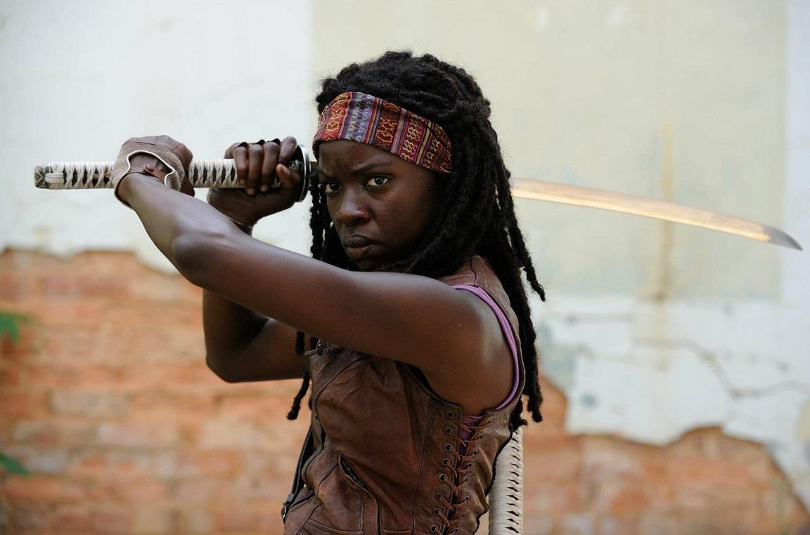 L'attrice Danai Gurira è Michonne in The Walking Dead