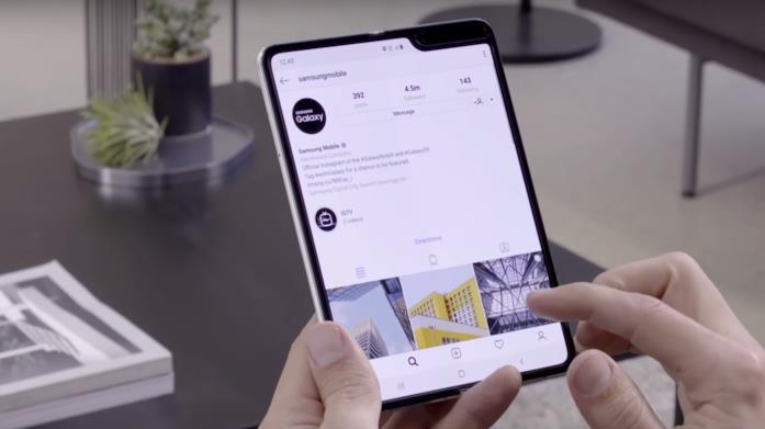 Instagram in esecuzione sul Samsung Galaxy Fold
