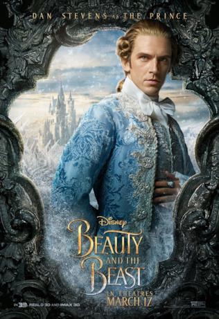 Dan Stevens nel poster della Bestia trasformata in Principe