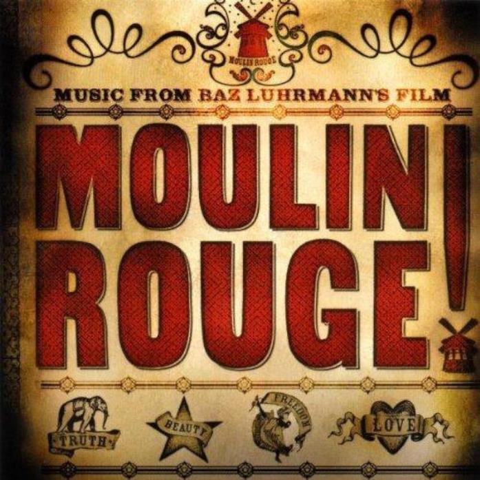 La copertina della colonna sonora di Moulin Rouge!