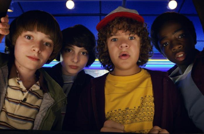 Il cast di Stranger Things in primo piano