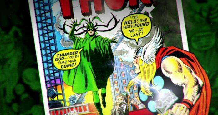 Hela e Thor in versione fumetto
