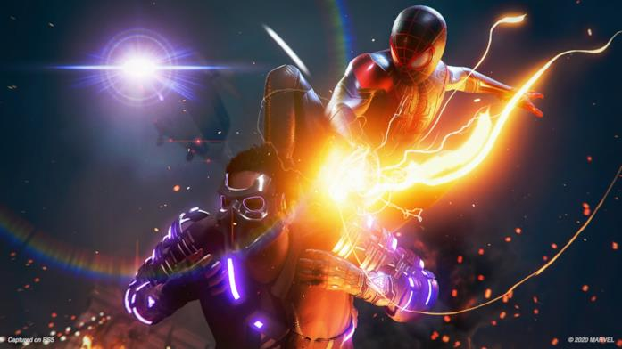 Miles Morales affronta un membro del gruppo Underground in Marvel's Spider-Man: Miles Morales