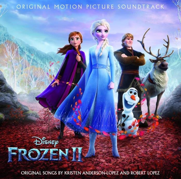La copertina della colonna sonora di Frozen 2