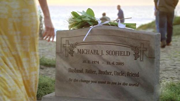 Michael Scofield tomba, Prison Break