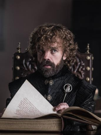 Tyrion nell'episodio di GoT 8x06, The Iron Throne