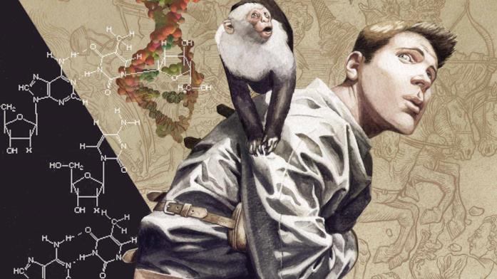 Yorick e la sua scimmietta Ampersand nei fumetti