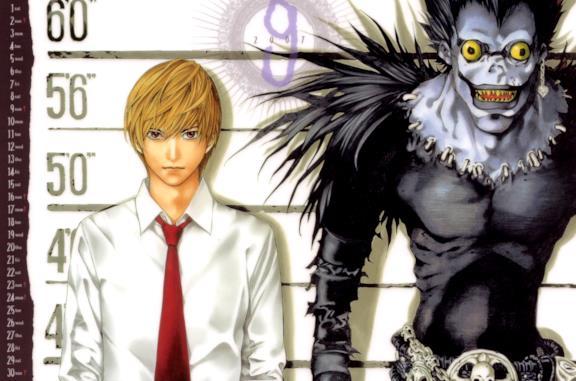 Light Yagami e lo shinigami Ryuk, protagonisti di Death Note