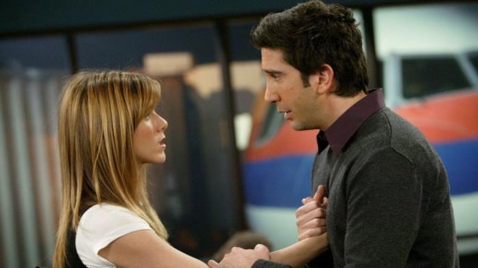 David Schwimmer e Jennifer Aniston in Friends