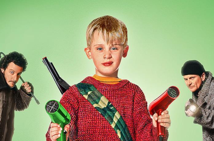 Kevin armato di fucile... giocattolo