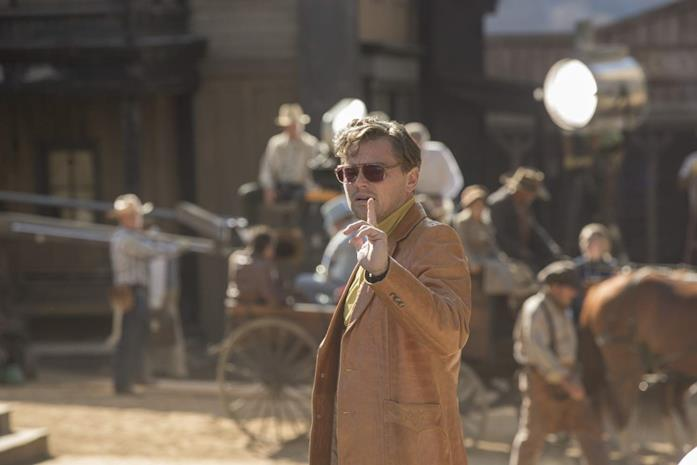 Leonardo DiCaprio sul set del film C'era una volta a Hollywood
