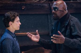 Fury e Peter in Spider-Man: Far From Home