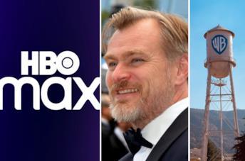 Christopher Nolan, il logo di HBO Max e i Warner Bros Studios