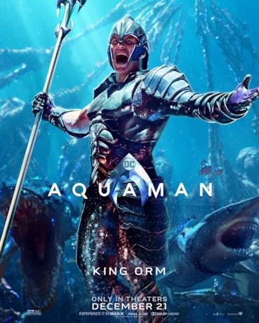 Patrick Wilson è Orm Marius aka Ocean Master nel film di James Wan