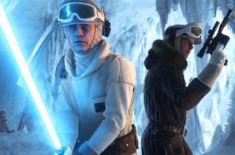 Luke Skywalker e Han Solo in azione in Star Wars Battlefront