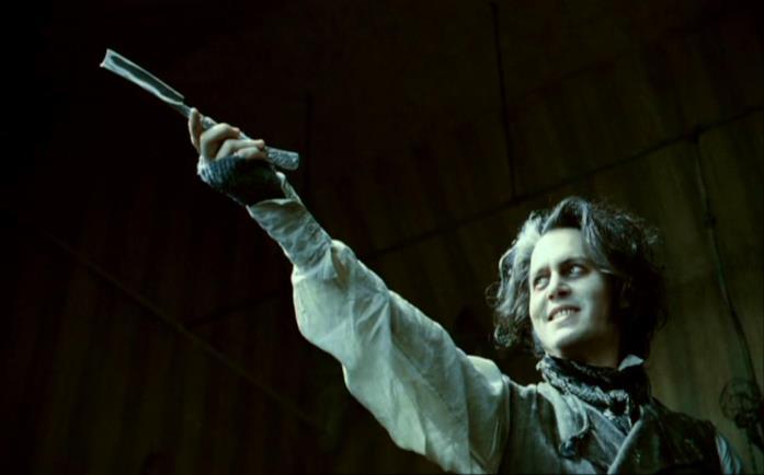 Johnny Depp in una scena di Sweeney Todd - Il diabolico barbiere di Fleet Street